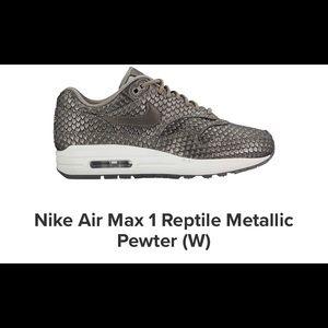 Nike Air Max 1 Reptile Metallic Size 6 Women's